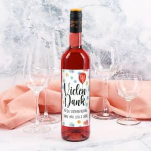 Weinflasche als Dankeschön Geschenk