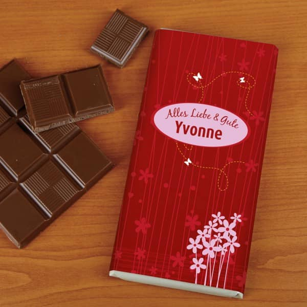 Muttertagsschokolade mit Wunschtext und Namen