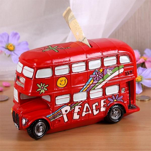 Spardose Peace Bus