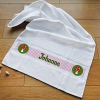 Glückspilz - Handtuch mit Wunschname personalisiert