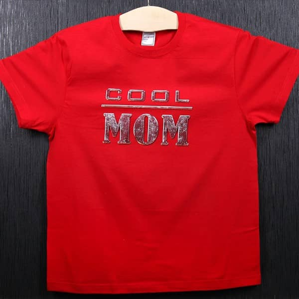 "T-Shirt rot ""Cool Mom"""