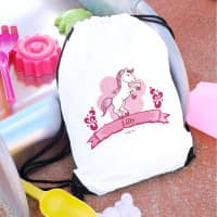 Sportbeutel mit Namensaufdruck Pink Pony