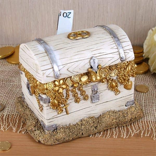 Spardose Schatztruhe zur Hochzeit  geschenke-online.de