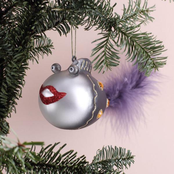 lustige Weihnachtskugel schwarzer Fisch