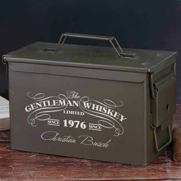 bedruckte Munitionsbox