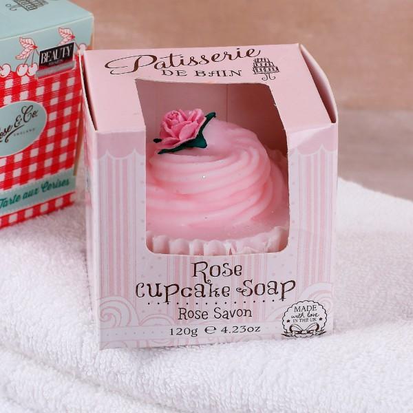 Cupcake Seife Rose