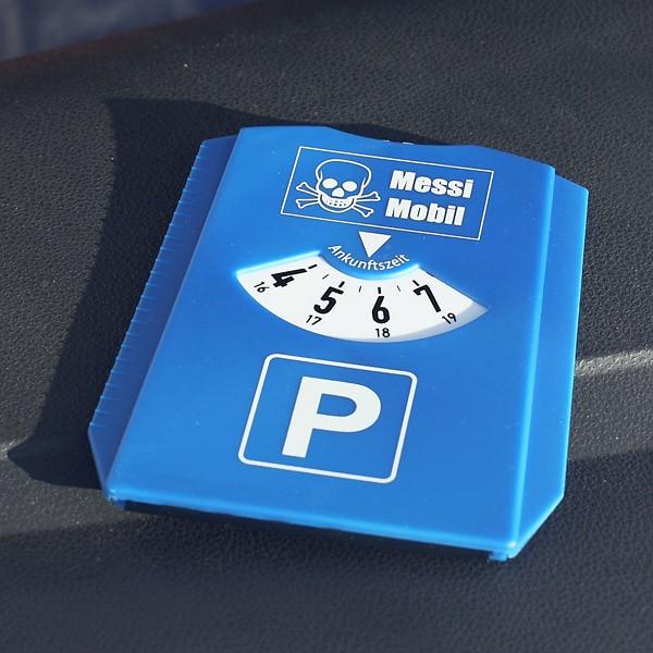Parkscheibe Messi Mobil