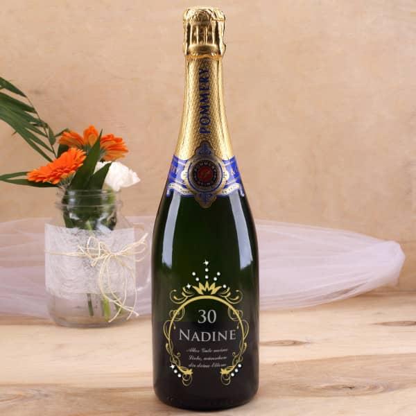 Pommery Champagner zum Geburtstag mit SWAROVSKI® ELEMENTS Strasssteinen