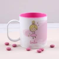 Ballerina Kindertasse mit Ihrem Namen