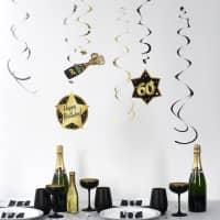 Party-Deko-Spiralen zum 60. Geburtstag - Star