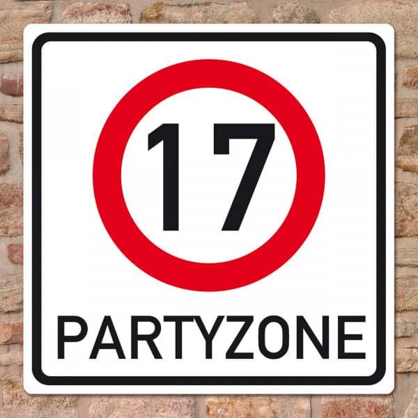 PVC Schild zum 17. Geburtstag