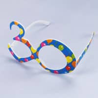 Blaue Party Brille - 30