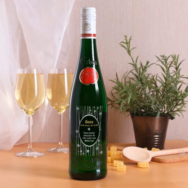 Weinflasche zum Muttertag mit Name