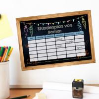 Magnetischer Stundenplan in Tafeloptik mit Ihrem Wunschnamen
