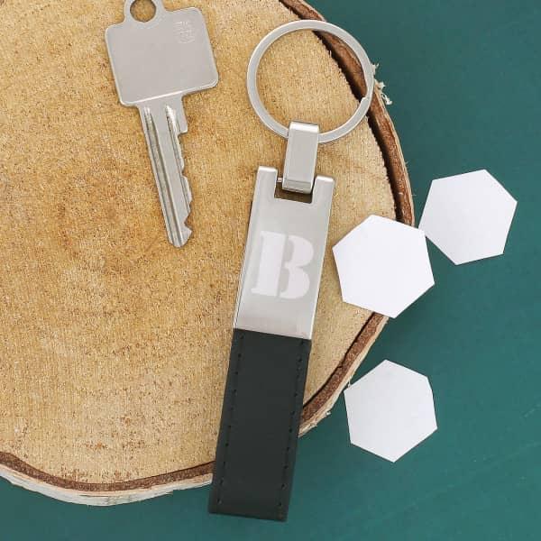 Lederband Schlüsselanhänger mit Gravur