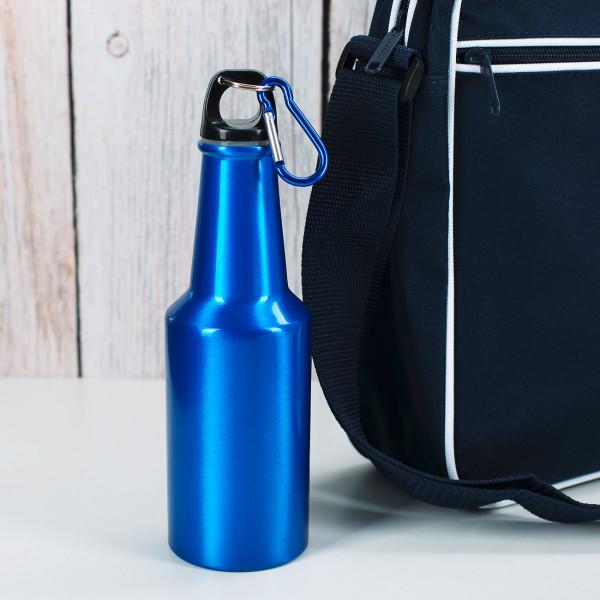 blaue Outdoor-Trinkflasche