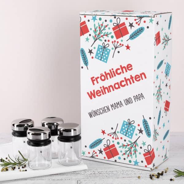 Gewürzstreuer von WMF mit weihnachtlicher Pappbox