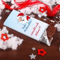 Leckere Weihnachtsschokolade mit eigenem Wunschtext