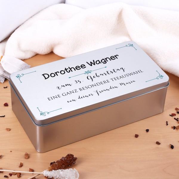 Geschenkdose zur Hochzeit mit ihrem Wunschtext bedruckt