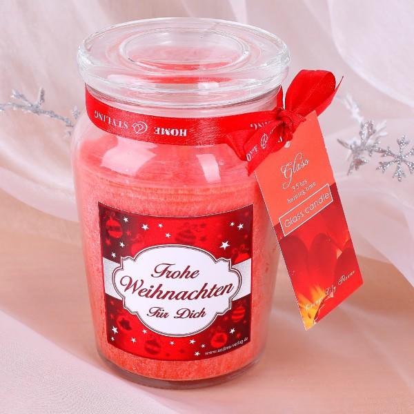 Duftkerze zu Weihnachten