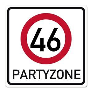 Geburtstagsbanner zum 46. Geburtstag