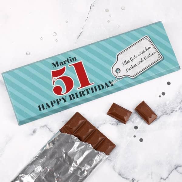 Individuellleckereien - Riesige Geburtstags Schokolade mit großer Altersangabe - Onlineshop Geschenke online.de