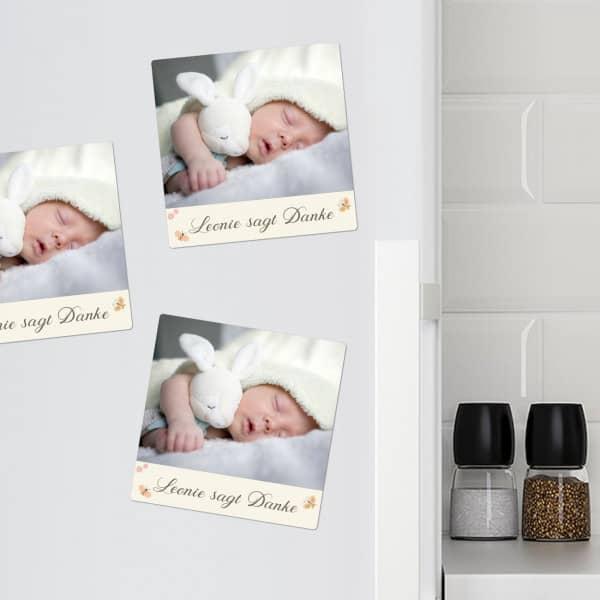 - 10 Fotomagnete zur Geburt für Mädchen sagt Danke - Onlineshop Geschenke online.de
