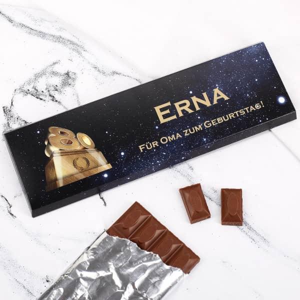 Individuellleckereien - Persönliche Schokolade zum 80. Geburtstag - Onlineshop Geschenke online.de