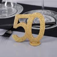 Goldene Dekozahl 50 - zum Geburtstag