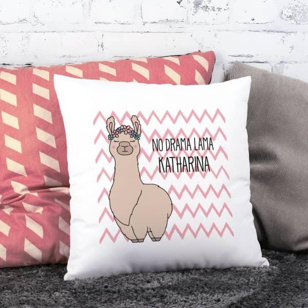 Lama-Kissen mit Ihrem Wunschtext und Name