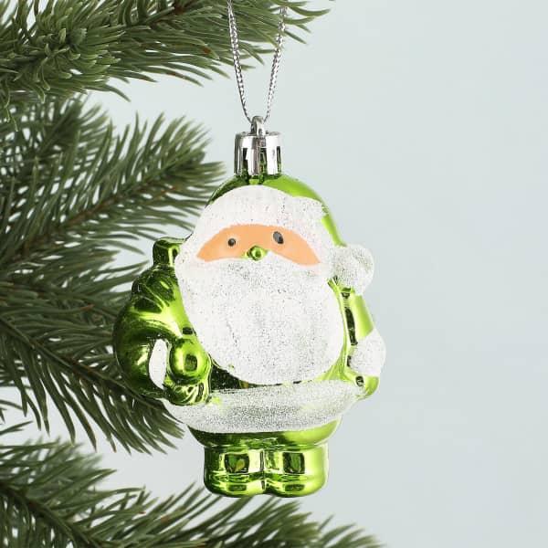 Weihnachtsmann in grün - Christbaumanhänger