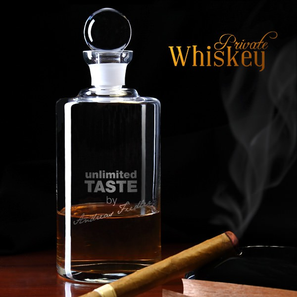 Karaffe mit Whisky Motiv Unlimited Taste