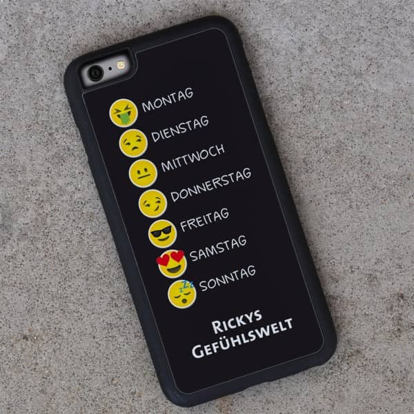 iPhone 6 Hülle mit Emojis und Wunschtext