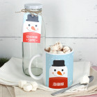 Geschenkset Schneemann-Suppe mit Tasse und Glasflasche