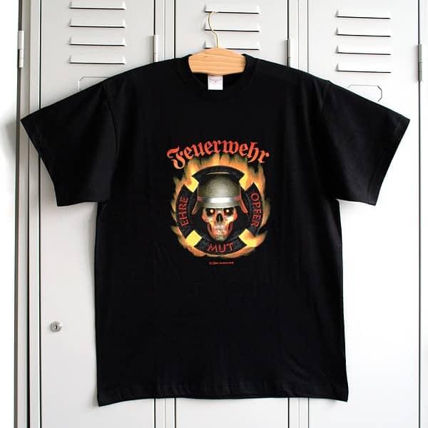 T-Shirt: Feuerwehr - Ehre, Opfer, Mut