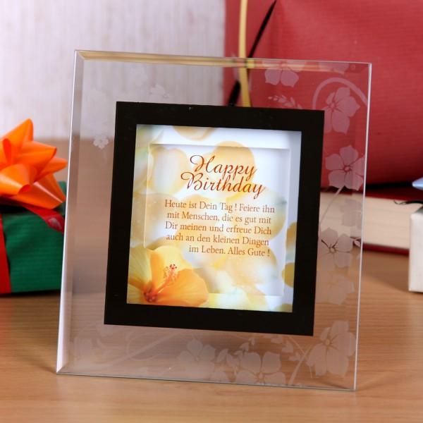 Bilderrahmen mit Text Happy Birthday