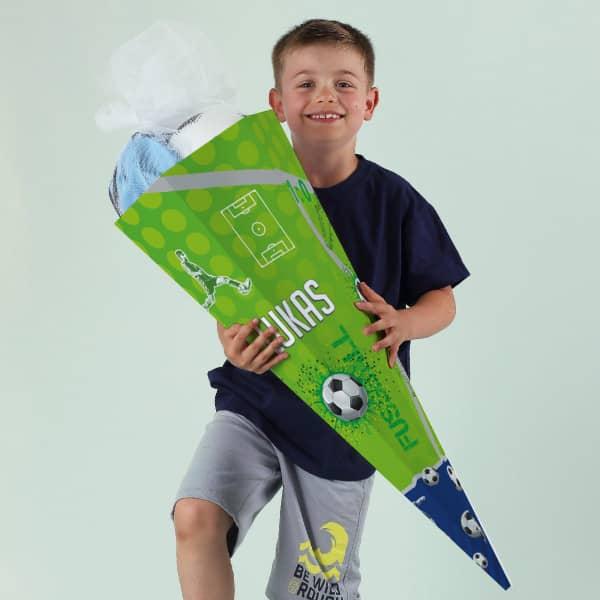 Fußball - Schultüte mit Namensaufdruck