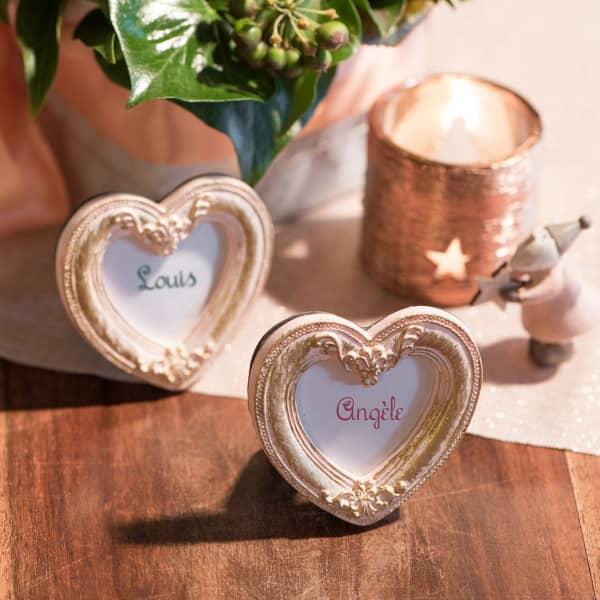 Mini Herz-Bilderrahmen im Vintagestil