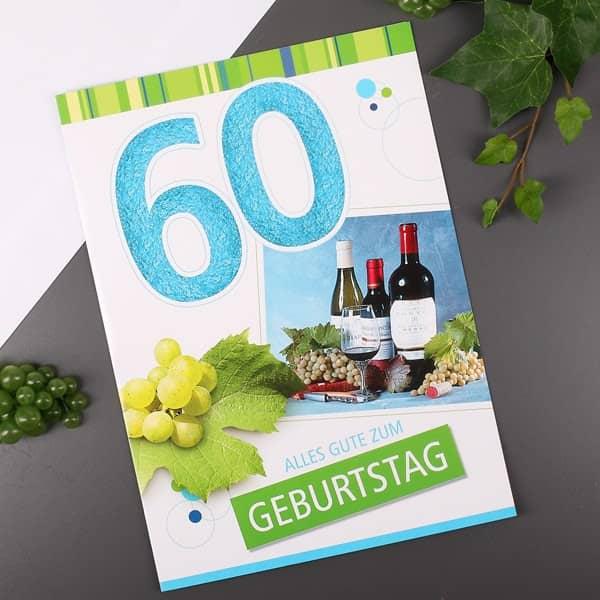 Karte in XL zum 60. Geburtstag