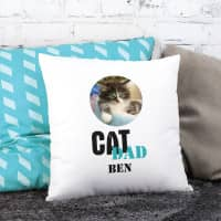 Cat Dad | Cat Mom - Fotokissen mit persönlichem Bild und Wunschname