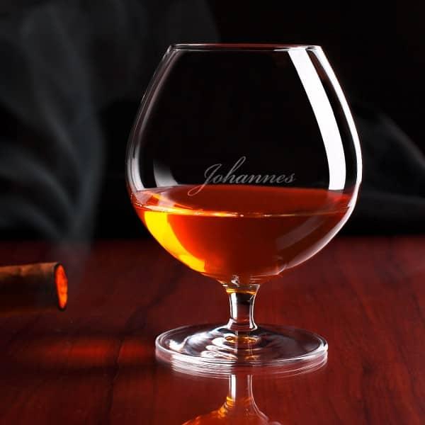 Cognac-Schwenker mit edler Gravur des Wunschnamen