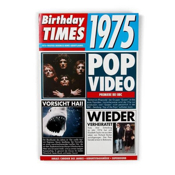 Birthday Times Karte 1975