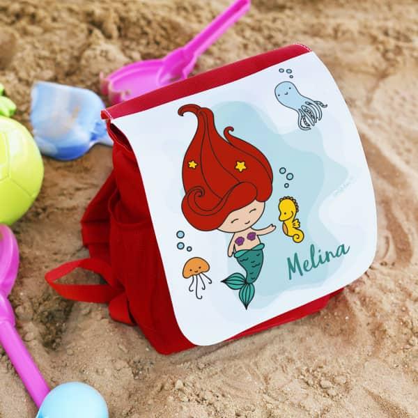 Kinderrucksaecke - Kindergartenrucksack mit kleiner Meerjungfrau - Onlineshop Geschenke online.de