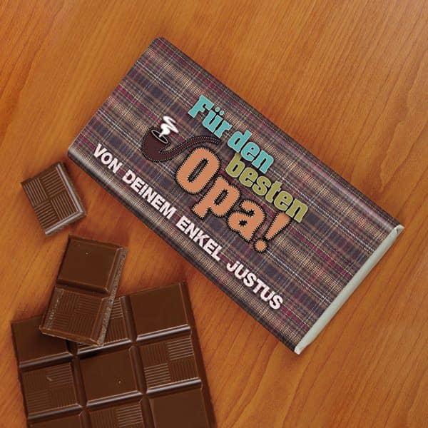 100g Schokolade für den besten Opa der Welt