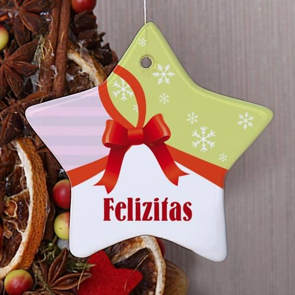 Baumschmuck zu Weihnachten mit Name