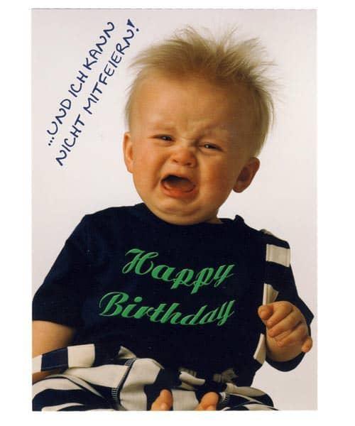 Geburtstagskarte - Ich kann nicht mitfeiern