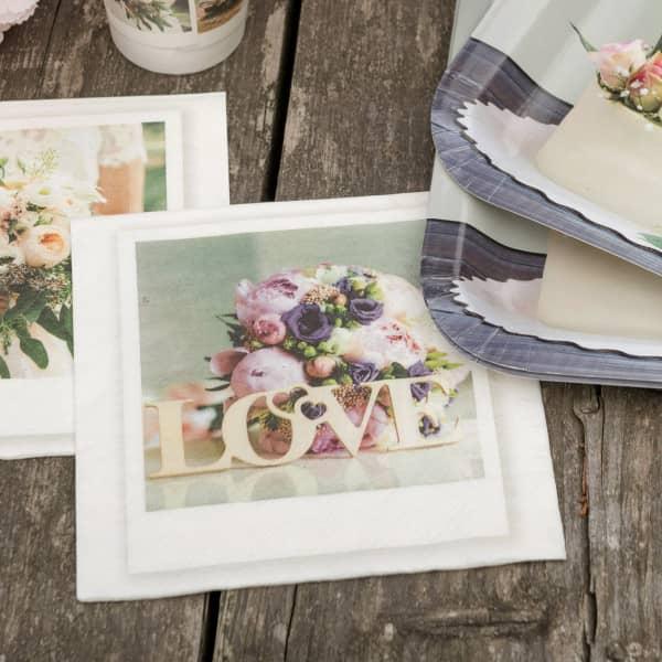Servietten zur Hochzeit - Love