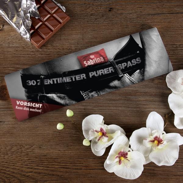 XL Schokolade 30 cm Spaß mit Wunschnamen