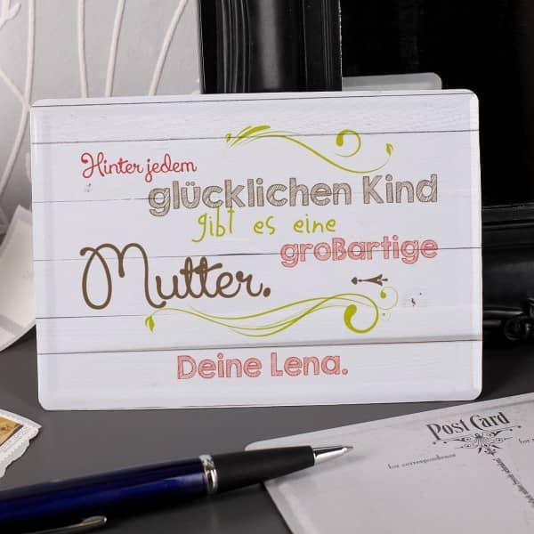 Nostalgische Blechpostkarte zum Muttertag mit Ihrem persönlichen Gruß