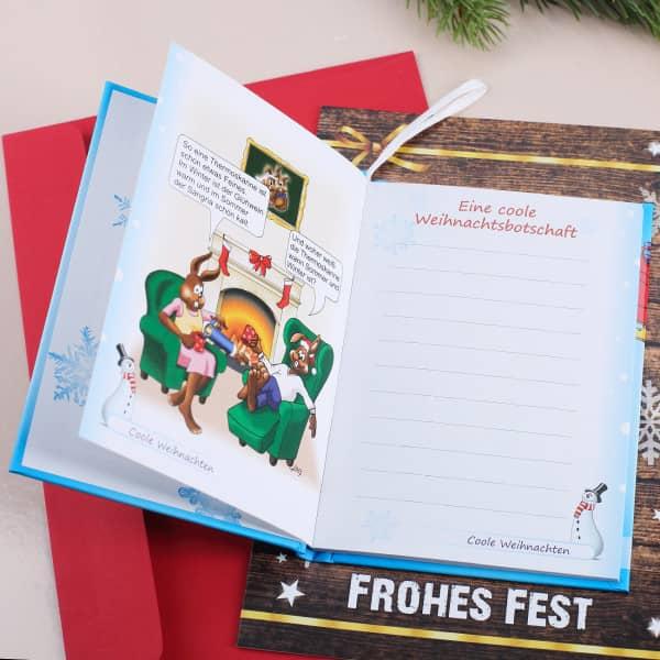 Weihnachtskarte A5 Mit Buch Coole Weihnachten